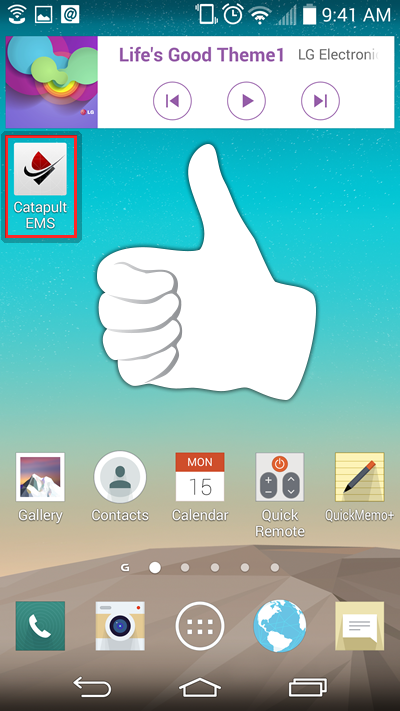 Success! The icon has been added to your Android Smartphone
